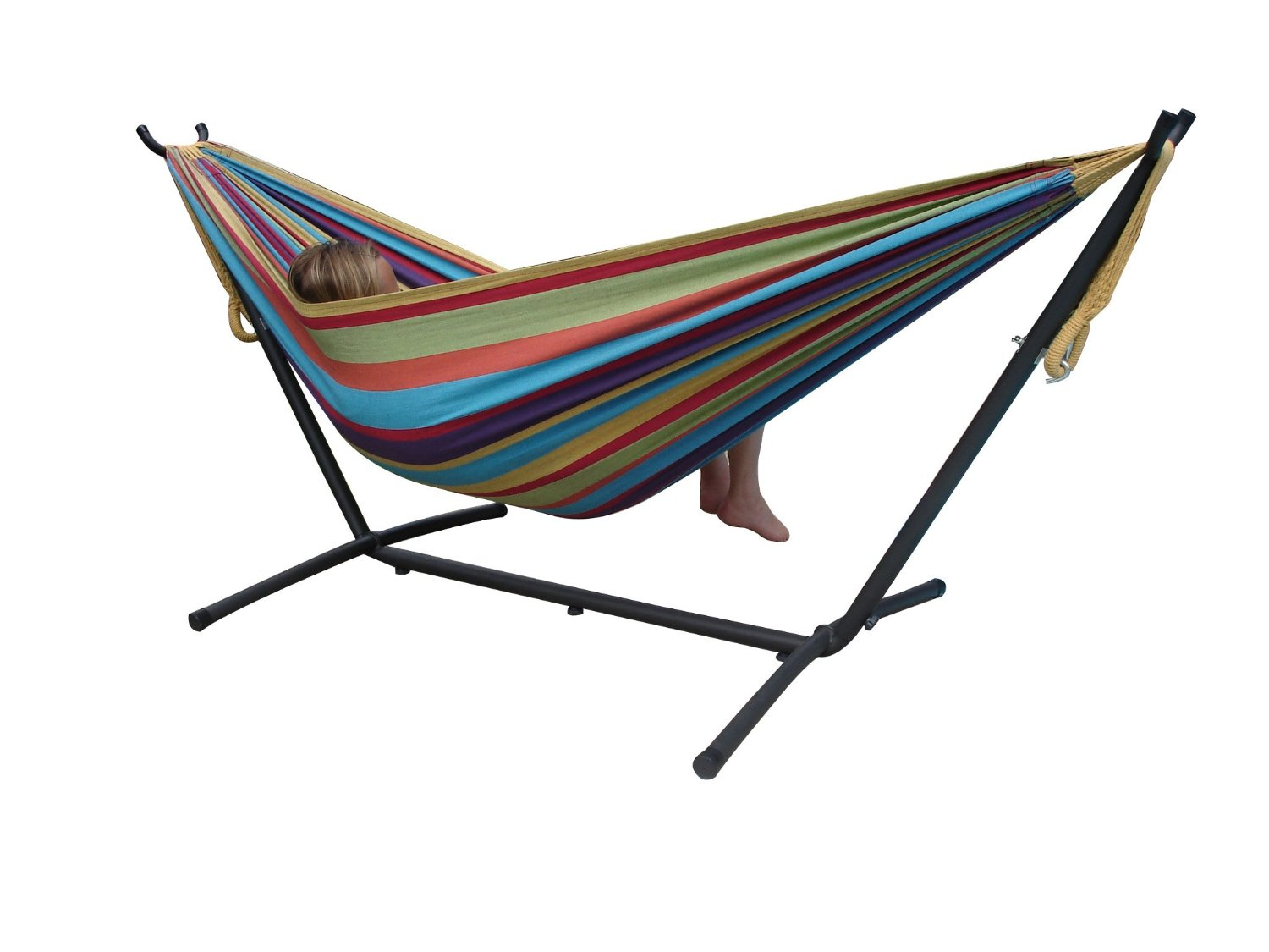 DOUBLE HAMMOCK W/ SPACE SAVING STAND