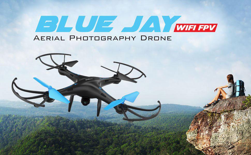 U45 Blue Jay WiFi Quadcopter Drone w/ HD Camera, Altitude